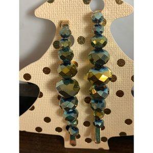 Kohl's Holiday Hair Pins Green NWT